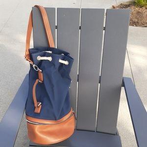 Richard Mille leather & canvas bucket bag